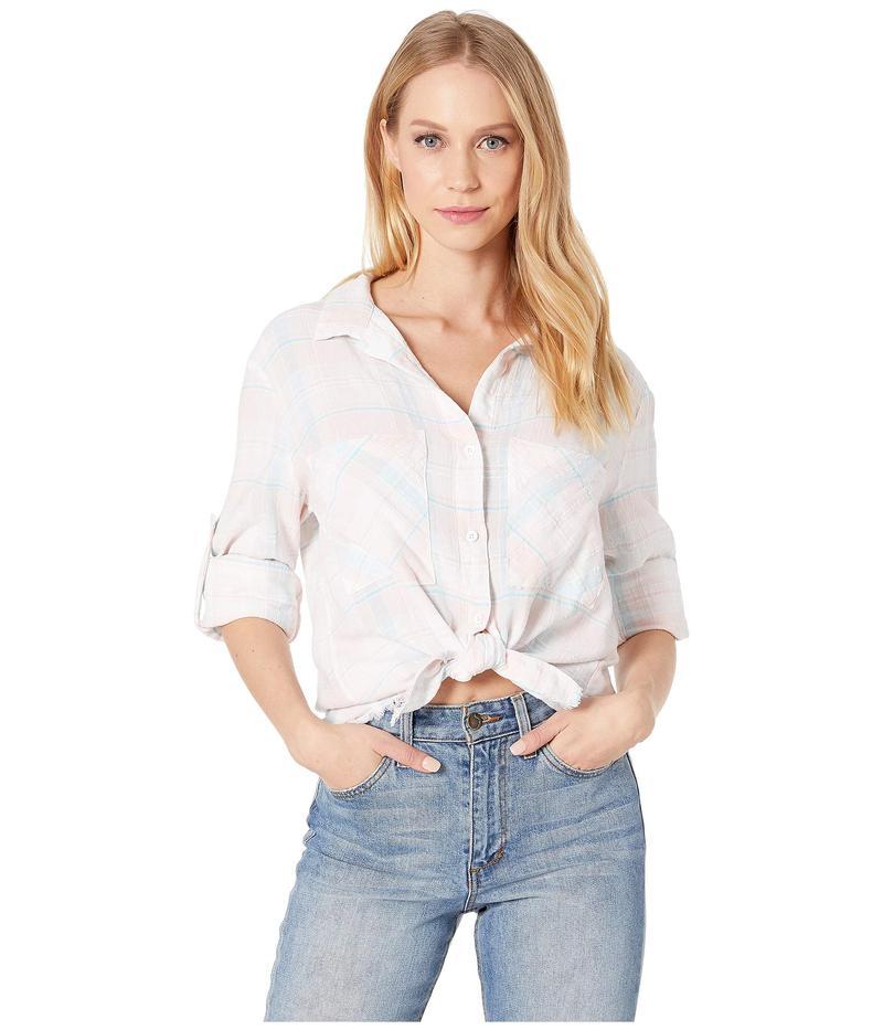 ベラダール レディース シャツ トップス Two-Pocket Frayed Hem Shirt Sunrise Plaid