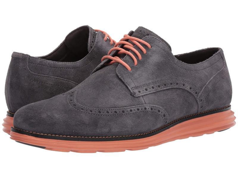 コールハーン メンズ オックスフォード シューズ Original Grand Wingtip Oxford Magnet Leather/Black/Canyon Sunset