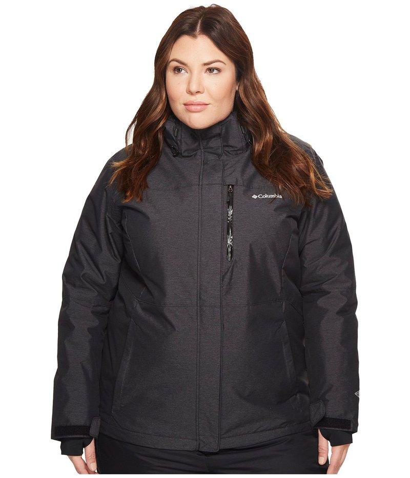 コロンビア レディース コート アウター Plus Size Alpine Action¢ Omni-Heat¢ Jacket Black Crossdye/Black