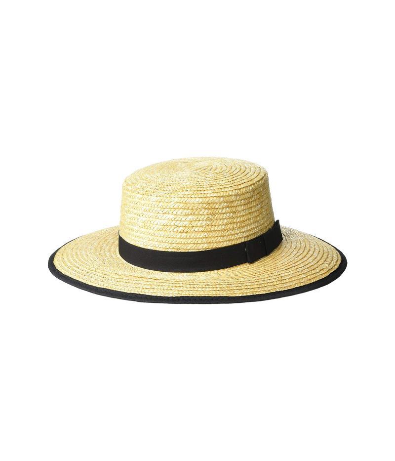 エコーデザイン レディース 帽子 アクセサリー Classic Boater Hat Echo Black