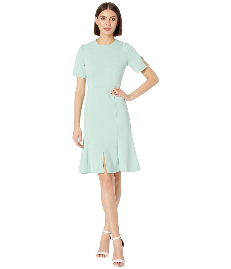 ドナモーガン レディース ワンピース トップス Crepe Short Split Sleeve Fit and Flare Dress Mint
