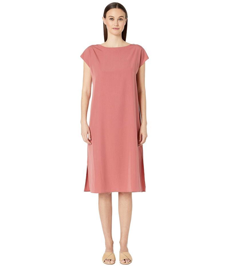 エイリーンフィッシャー レディース ワンピース トップス Bateau Neck Calf Length Dress Chutney