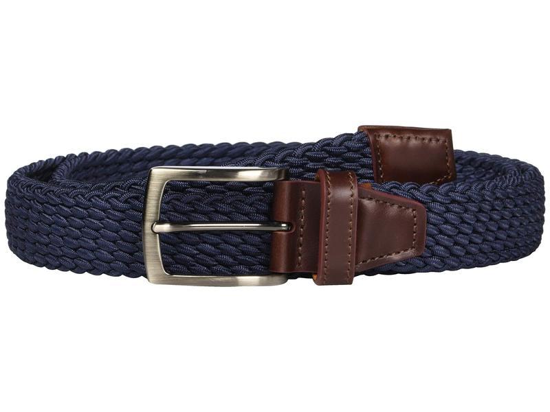 ジョンストンアンドマーフィー メンズ ベルト アクセサリー Stretch Knit Navy