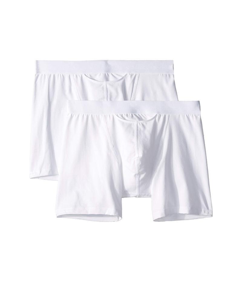 ホム メンズ ボクサーパンツ アンダーウェア HO-1 Long Boxer Briefs 2-Pack White