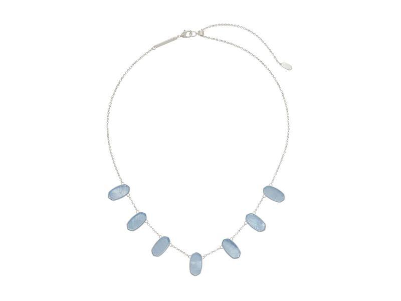 ケンドラスコット レディース ネックレス・チョーカー・ペンダントトップ アクセサリー Meadow Necklace Bright Silver/Sky Blue Illusion