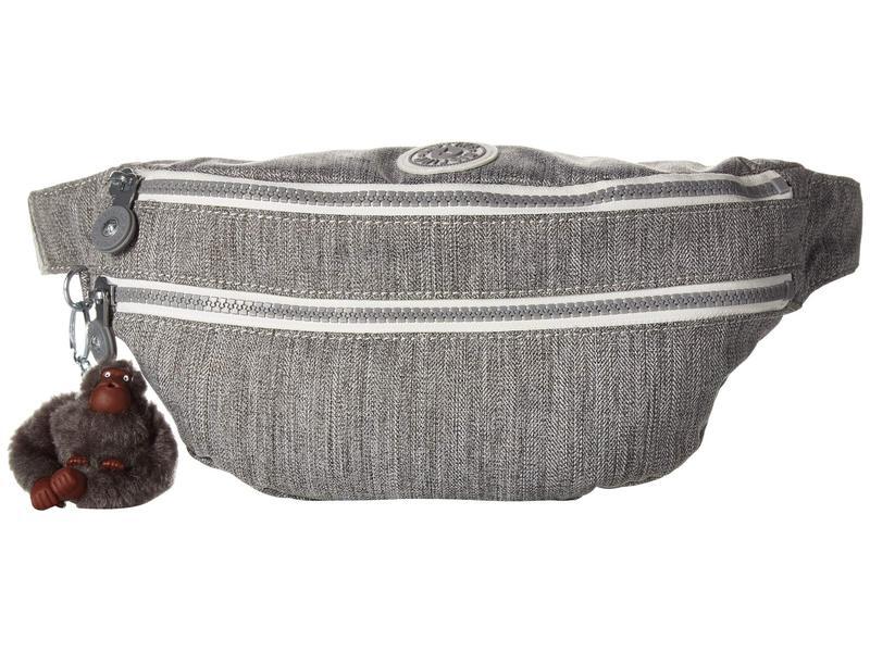キプリング レディース ボディバッグ・ウエストポーチ バッグ Yasemina Waistpack Grey Weave