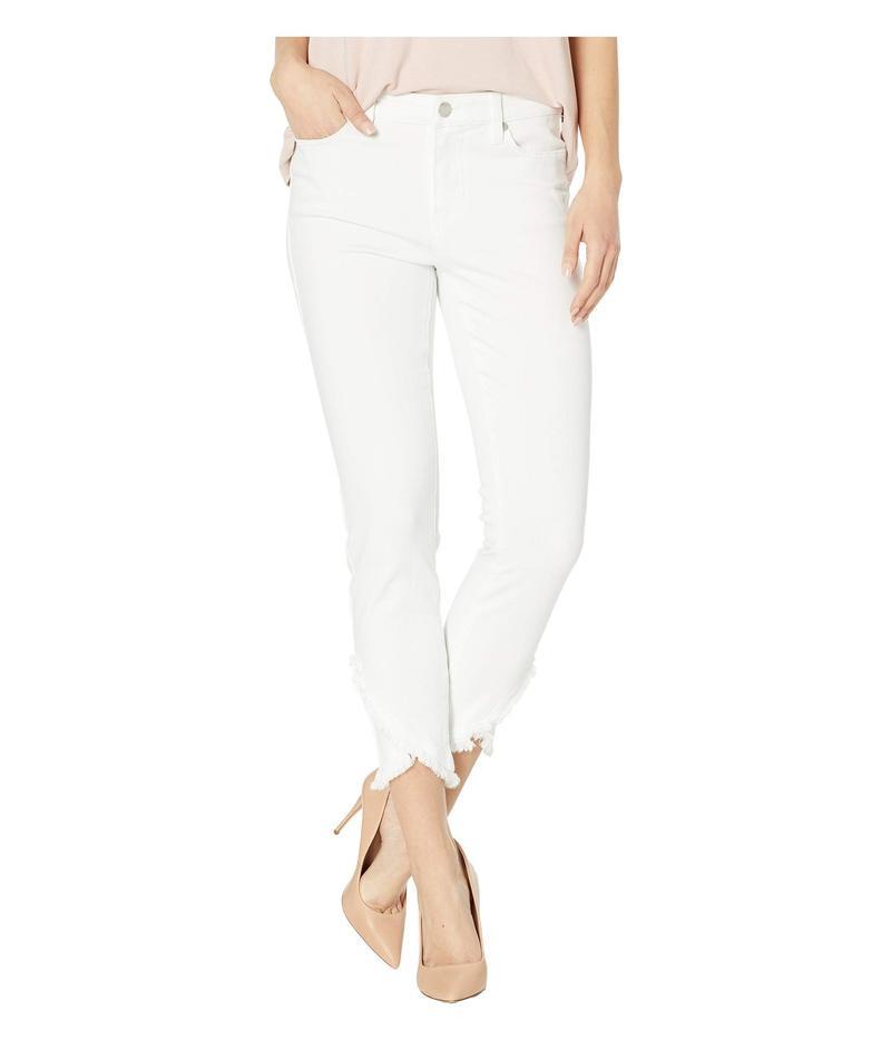 リバプール レディース デニムパンツ ボトムス Abby Crop Skinny Front Scallop Hem Jeans in Bright White Bright White