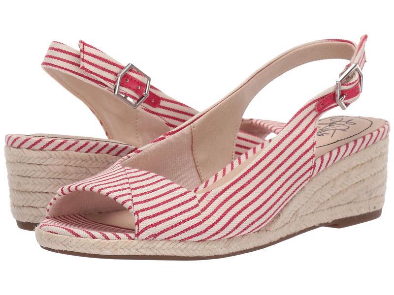 ライフストライド レディース ヒール シューズ Socialite Red/White Nautical Canvas