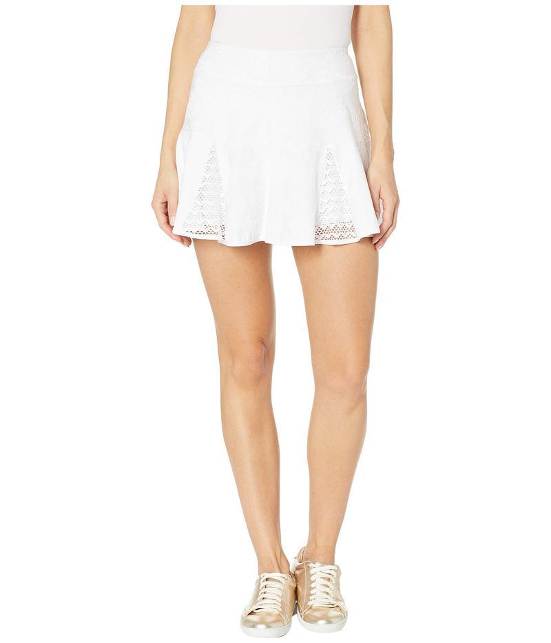 リリーピュリッツァー レディース スカート ボトムス Coquina Tennis Skort Resort White Nylon Tennis Monkey Knit Jacquard