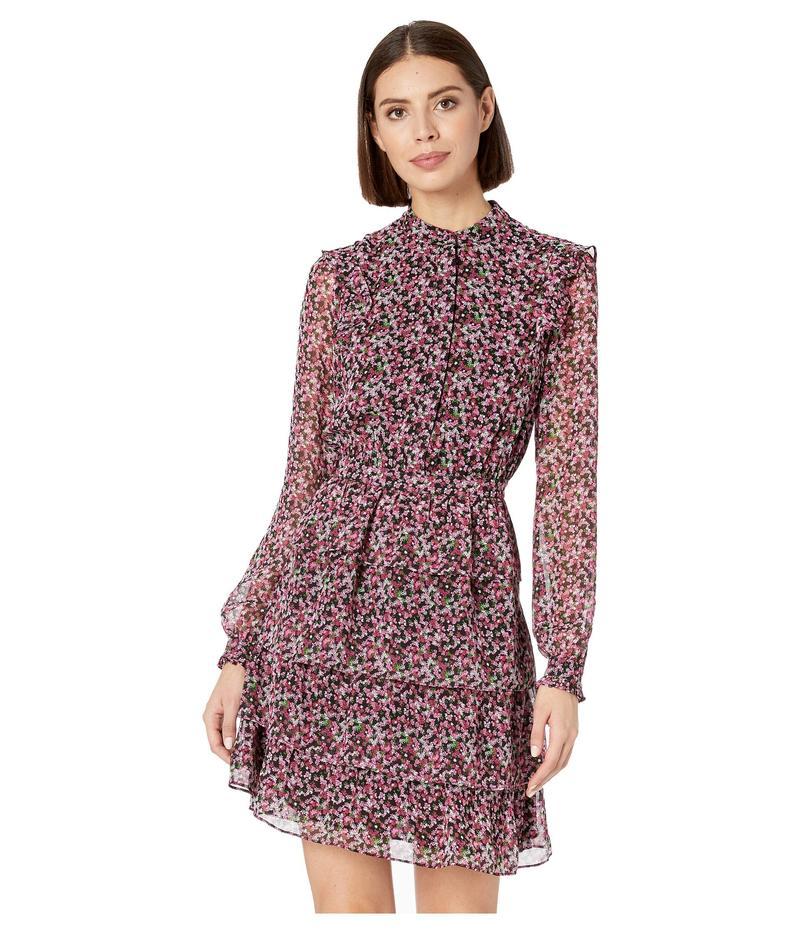マイケルコース レディース ワンピース トップス Floral Shirtdress Black/Electric Pink