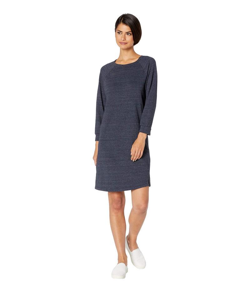 マイケルスターズ レディース ワンピース トップス Monica Lounge Jersey 3/4 Sleeve Boat Neck Sweatshirt Dress Admiral