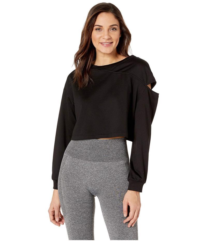 ミチ レディース パーカー・スウェット アウター Fusion Crop Sweatshirt Black