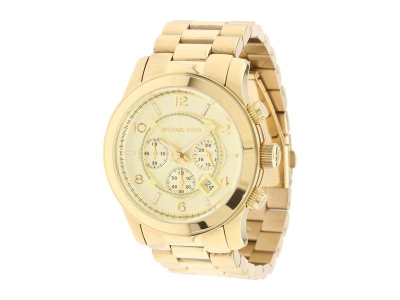 マイケルコース メンズ 腕時計 アクセサリー MK8077 - Runway Chronograph Gold