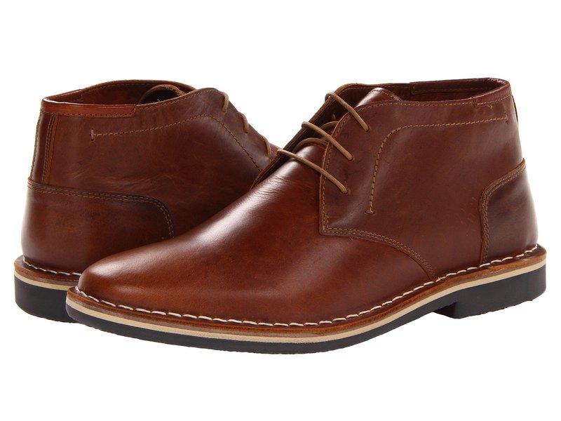 送料無料 買い物 2020モデル サイズ交換無料 スティーブ マデン メンズ シューズ Cognac レインブーツ Leather ブーツ Harken