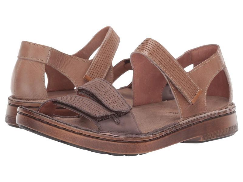 ナオト レディース サンダル シューズ Amarante Arizona Tan Leather/Shiitake Nubuck/Amber Nubuck