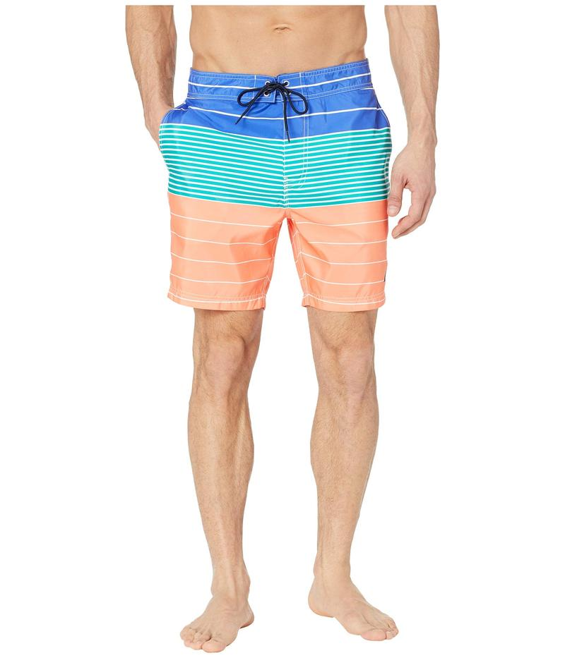 ナウティカ メンズ ハーフパンツ・ショーツ 水着 Variegated Stripe Swim Trunks Living Coral
