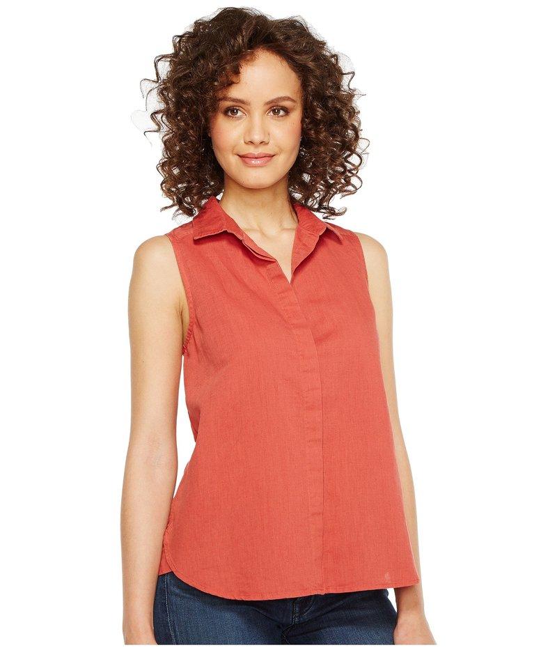 エヌワイディージェイ レディース シャツ トップス Garment Dye Linen Sleeveless Top Coppertone