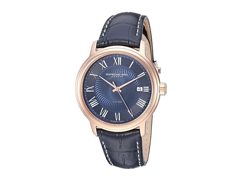 レイモンド ウィル メンズ 腕時計 アクセサリー Maestro - 2237-PC5-00508 Rose Gold/Blue