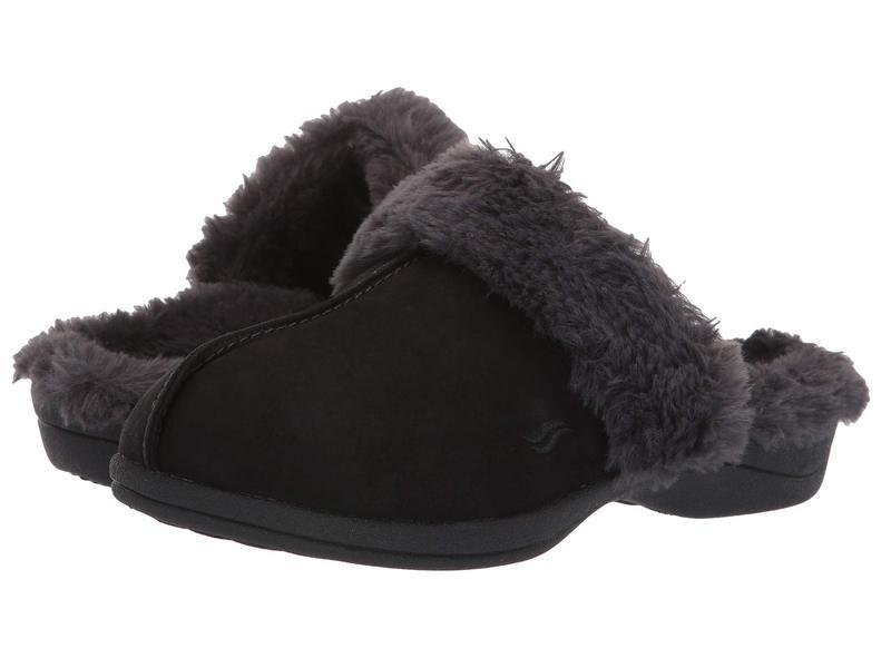パワーステップ レディース サンダル シューズ Luxe Orthotic Slippers Black