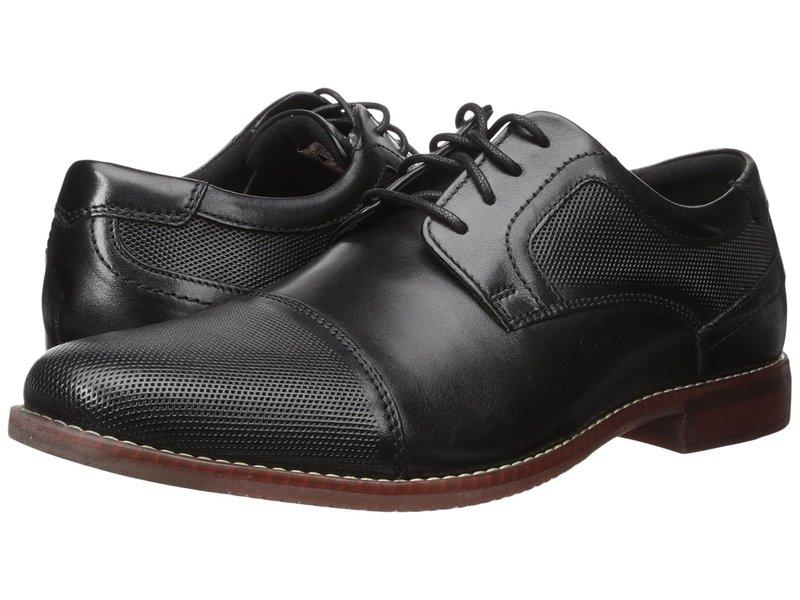 ロックポート メンズ オックスフォード シューズ Style Purpose Perf Cap Toe Black Leather