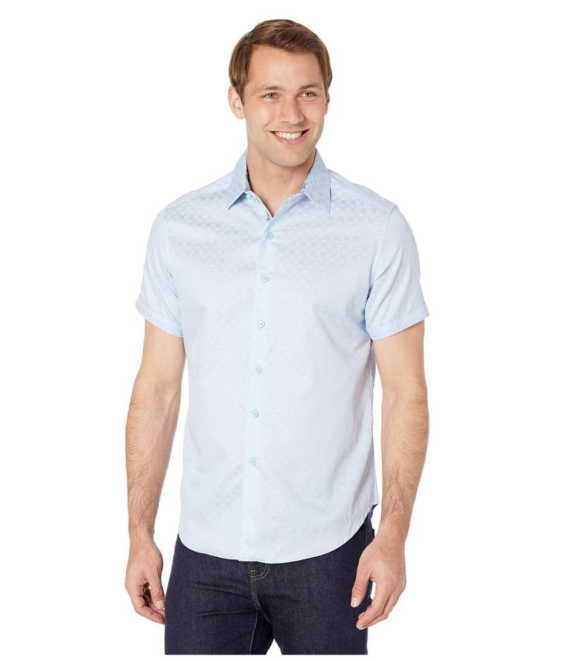 ロバートグラハム メンズ シャツ トップス Diamante Short Sleeve Sports Shirt Light Blue