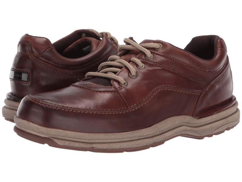 ロックポート メンズ オックスフォード シューズ World Tour Classic Brown Leather