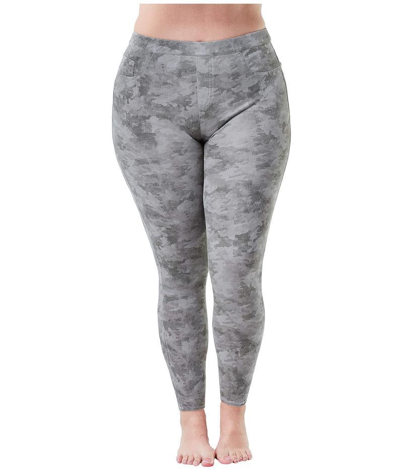スパンク レディース デニムパンツ ボトムス Plus Size Jean-ish Ankle Leggings Stone Wash Camo