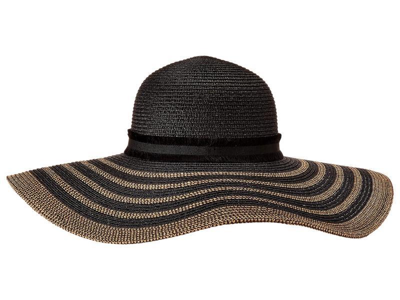 スティーブ マデン レディース 帽子 アクセサリー Maled Braid Wide Brim Floppy Hat Black/Tan