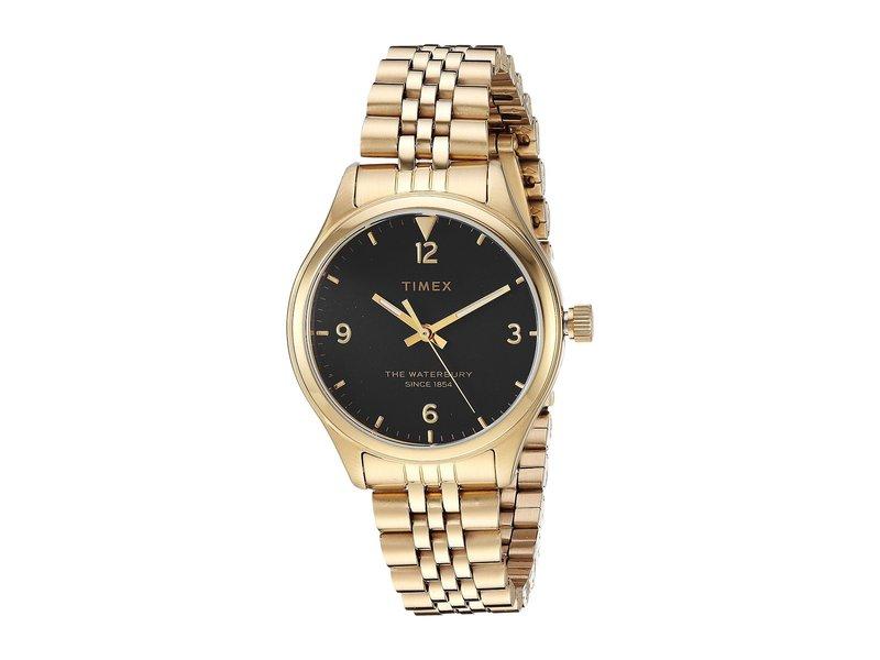 タイメックス レディース 腕時計 アクセサリー Waterbury Traditional 3-Hand Gold/Black
