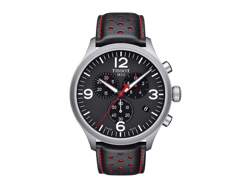 ティソット メンズ 腕時計 アクセサリー Tissot Chrono XL - T1166171605702 Black/Black/Red