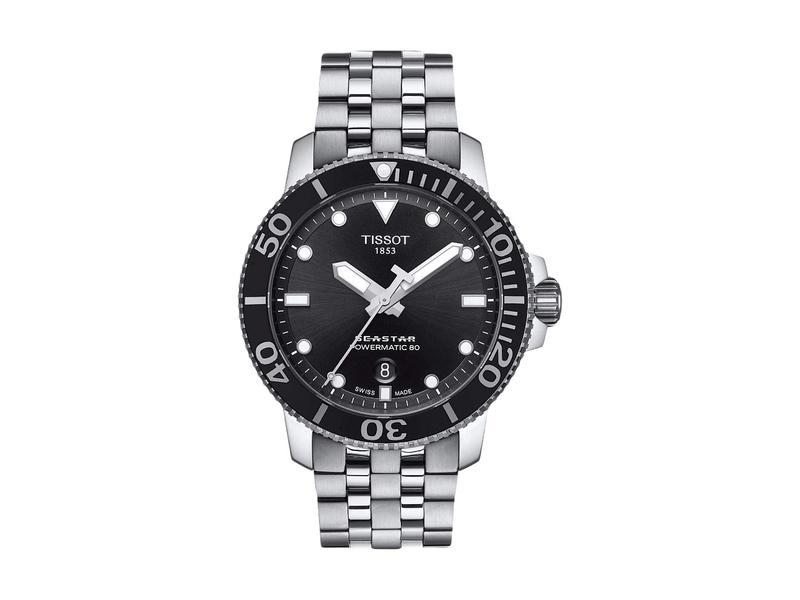 ティソット メンズ 腕時計 アクセサリー Seastar 1000 Powermatic 80 - T1204071105100 Grey