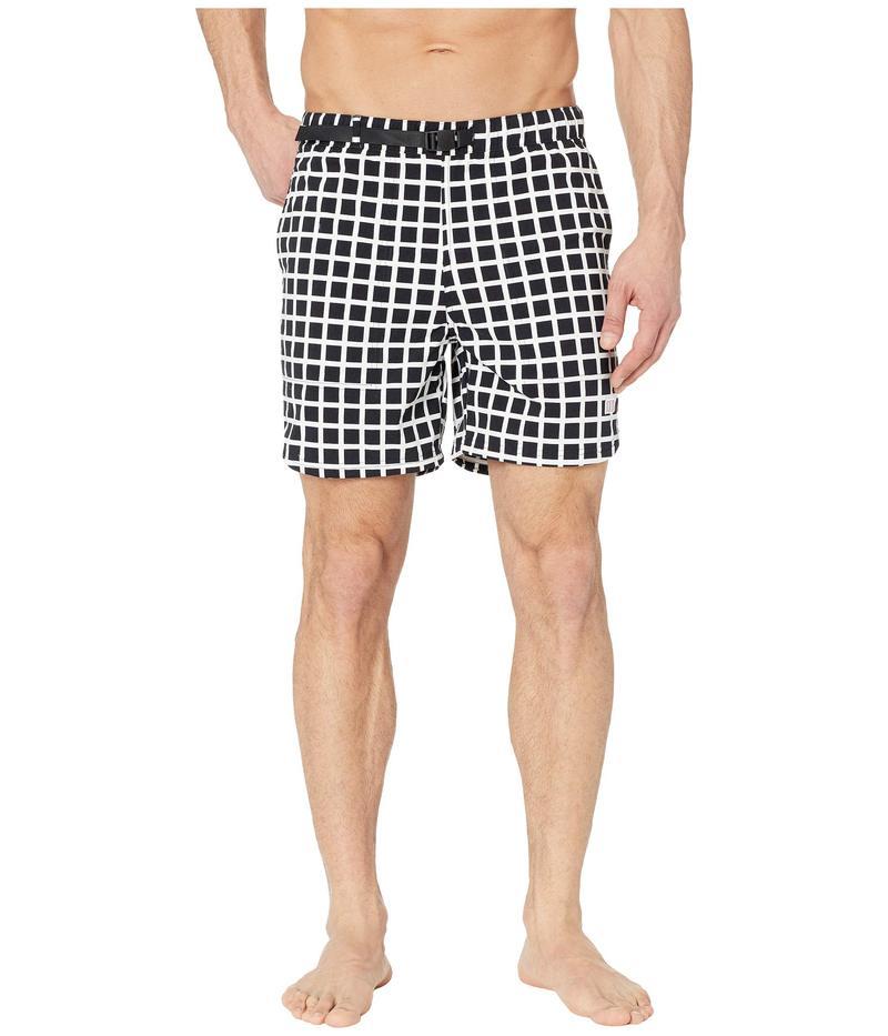 トポ・デザイン メンズ ハーフパンツ・ショーツ 水着 River Shorts - Print Black Grid