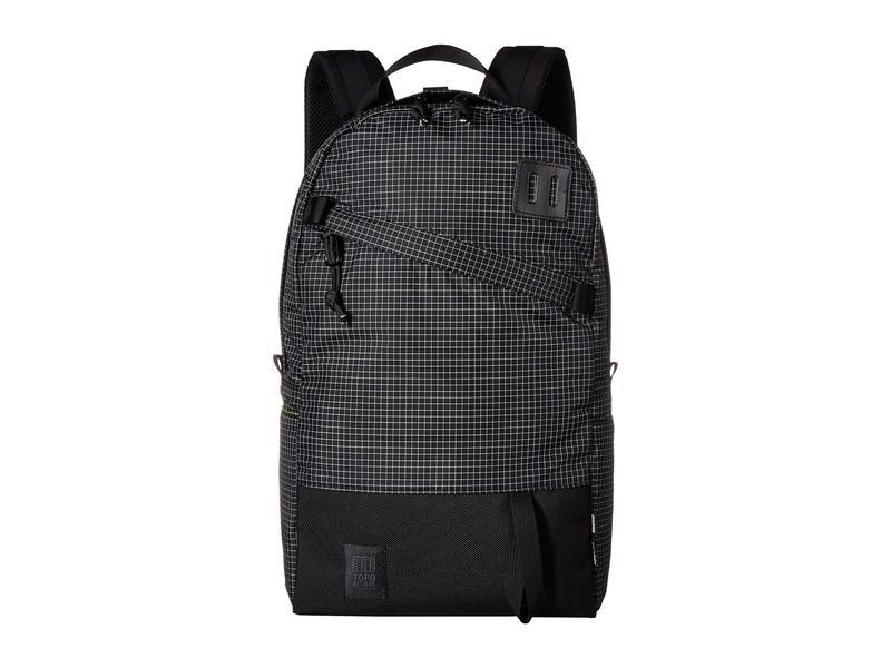 トポ・デザイン メンズ バックパック・リュックサック バッグ Daypack Black/White Ripstop