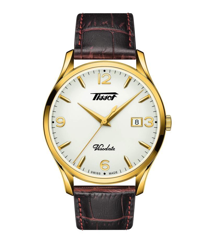 ティソット メンズ 腕時計 アクセサリー Heritage Visodate - T1184103627700 Brown/Gold
