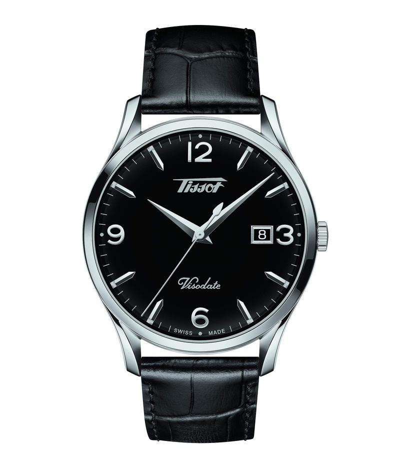 ティソット メンズ 腕時計 アクセサリー Heritage Visodate - T1184101605700 Black/Silver