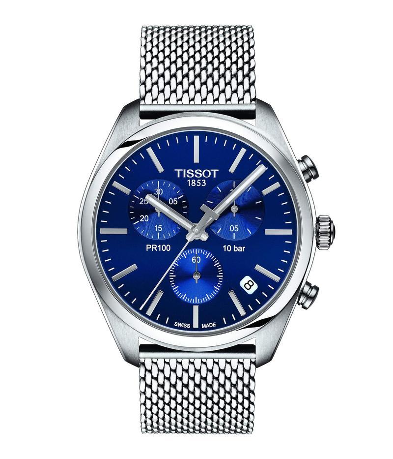 ティソット メンズ 腕時計 アクセサリー PR 100 Chronograph - T1014171104100 Blue/Silver