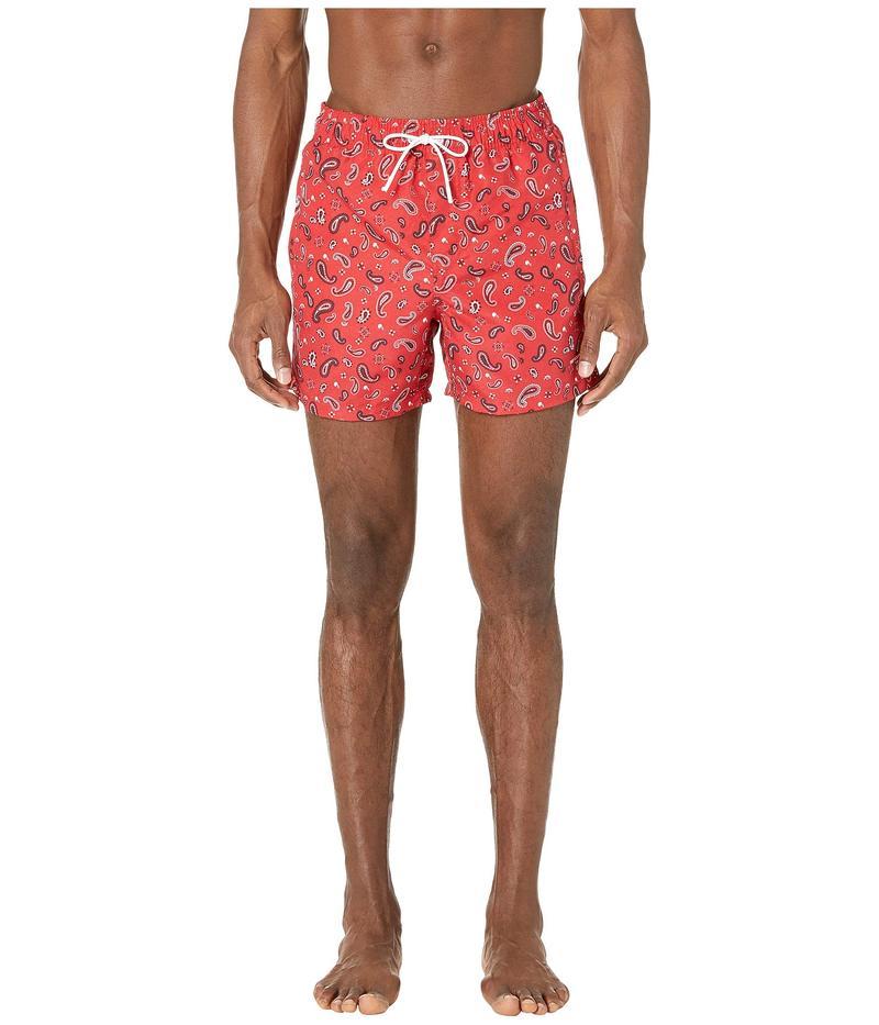 ザ・クープルス メンズ ハーフパンツ・ショーツ 水着 Bandana Swim Trunks Red