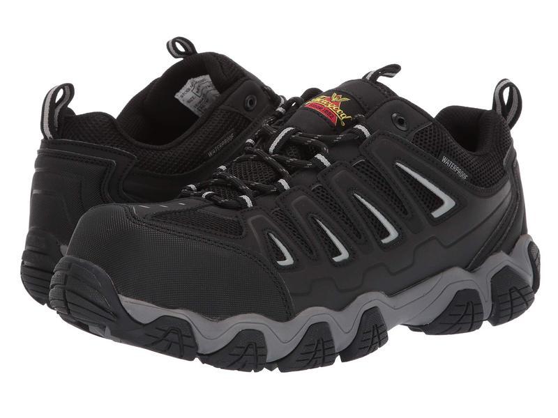 ソログッド メンズ スニーカー シューズ Crosstrex Oxford Waterproof Comp Toe Black/Grey