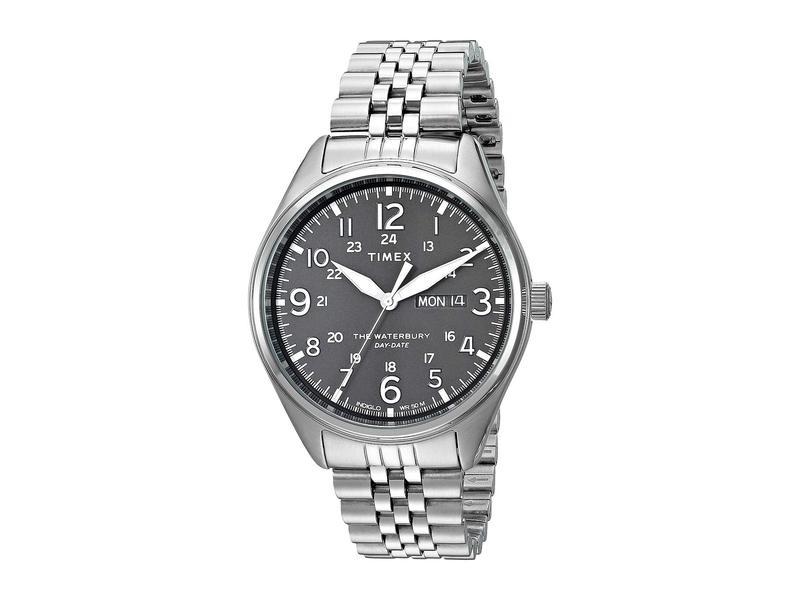 タイメックス メンズ 腕時計 アクセサリー Waterbury Traditional Day Date Silver/White