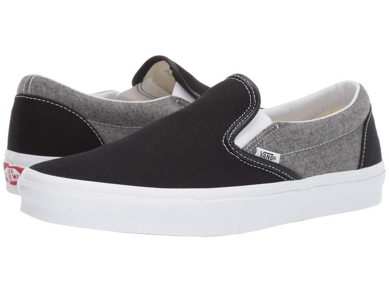 バンズ メンズ スニーカー シューズ Classic Slip-On¢ (Chambray) Canvas Black/True White