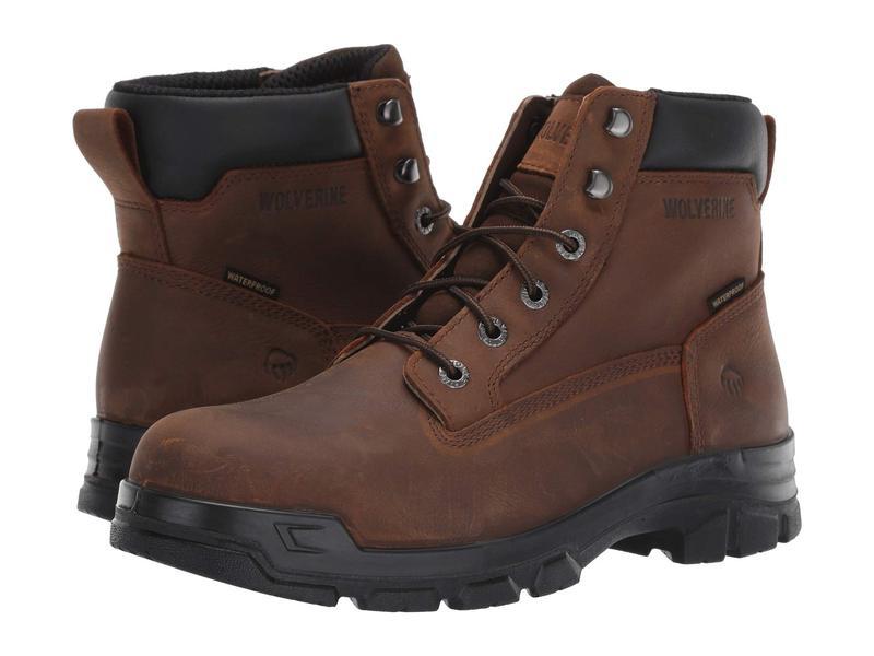 ウルヴァリン メンズ ブーツ・レインブーツ シューズ Chainhand Steel Toe WP Brown