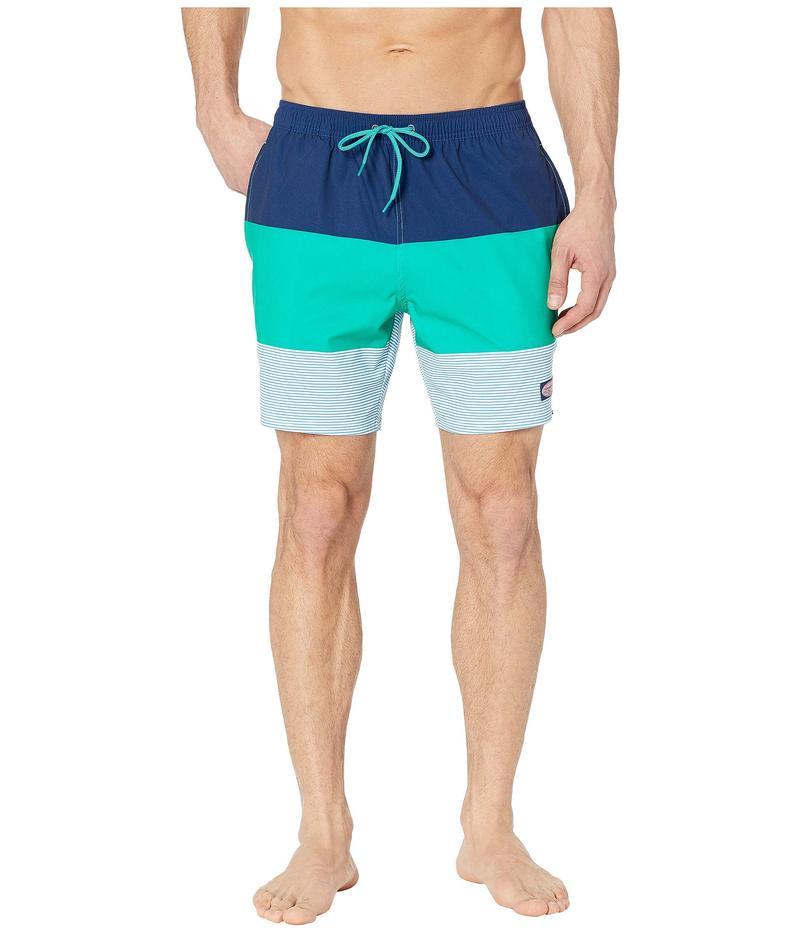 ヴァインヤードヴァインズ メンズ ハーフパンツ・ショーツ 水着 Stripe Chappy Swim Trunks Caribe