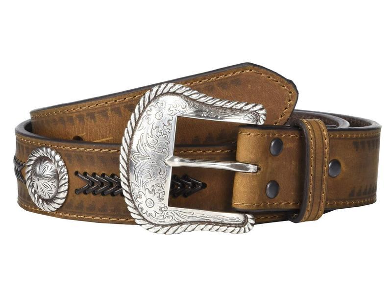 アリアト メンズ ベルト アクセサリー Aztec Edge w/ Arrow Lacing Belt Medium Brown