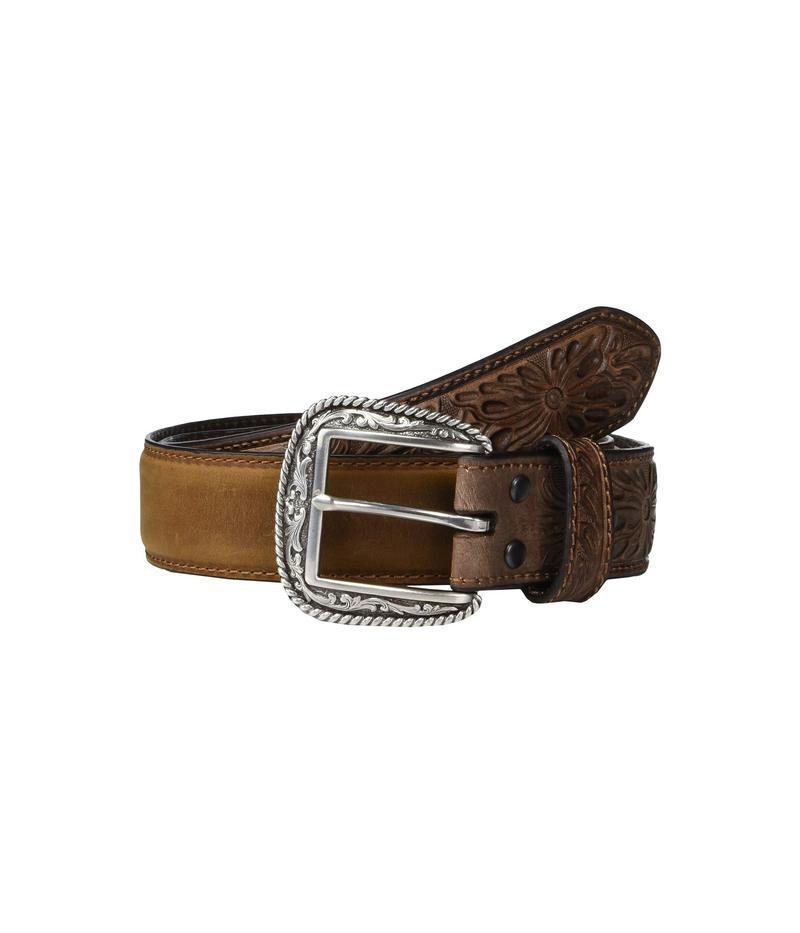 アリアト メンズ ベルト アクセサリー Embossed Billets Belt Medium Brown