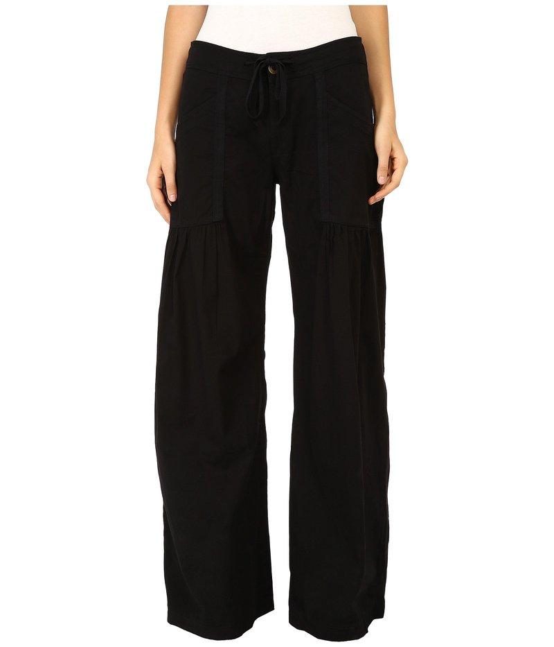 エックスシーブイアイ レディース カジュアルパンツ ボトムス Willow Wide Leg Stretch Poplin Pants Black