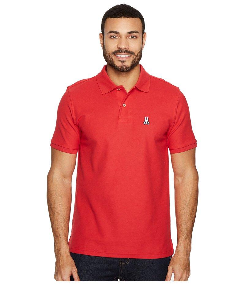 サイコバニー メンズ シャツ トップス Classic Polo Brilliant Red