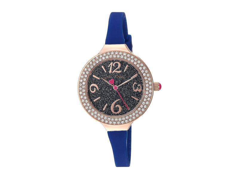 ベッツィジョンソン レディース 腕時計 アクセサリー Glitter Dial & Silicon Strap Watch Blue