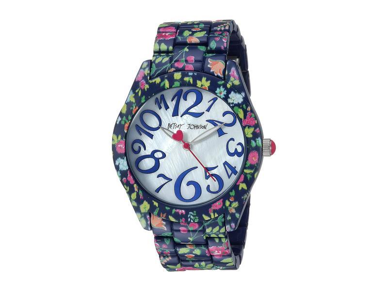 ベッツィジョンソン レディース 腕時計 アクセサリー Printed Case & Bracelet Watch Multi/Navy Floral