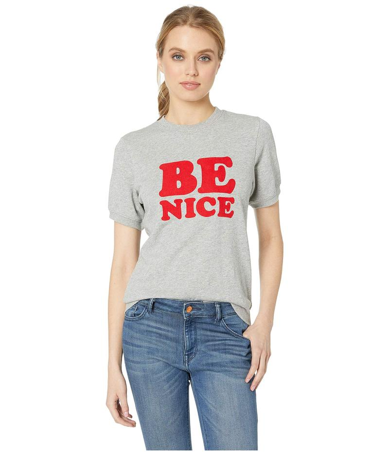 バンドー レディース パーカー・スウェット アウター Be Nice Short Sleeve Sweatshirt Grey
