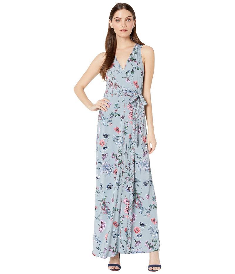 ビーシービージーマックスアズリア レディース ワンピース トップス Floral Printed Matte Jersey Dress Wildflowers 2/Dusk Blue